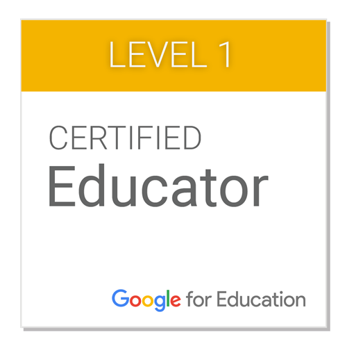 Google Level 1 Certification Badge
