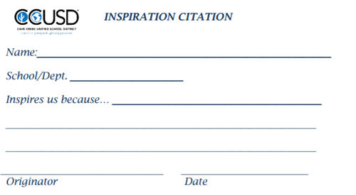 Picture of the Inspiration Citation Slip