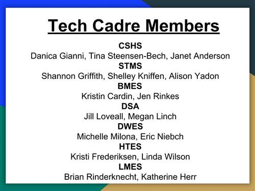 List of Cadre Members from Each School