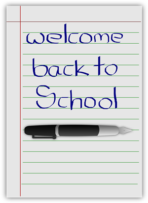 Welcome back to school page