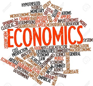 Economics Word Cloud of common terms