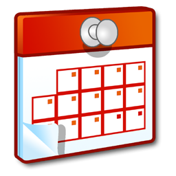 Drawing of a red calendar.