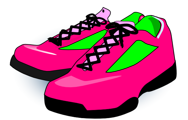 Picture of pink running shoes