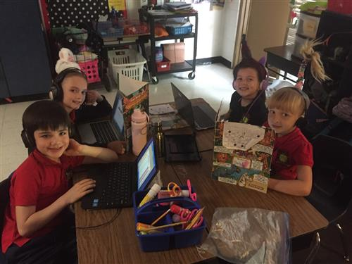 Crazy Hair Day - Working Stations
