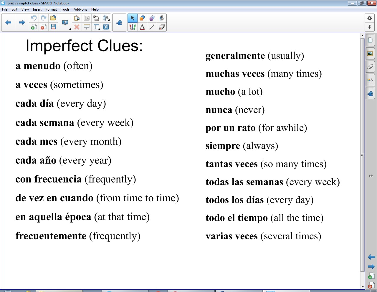 imperfect clues