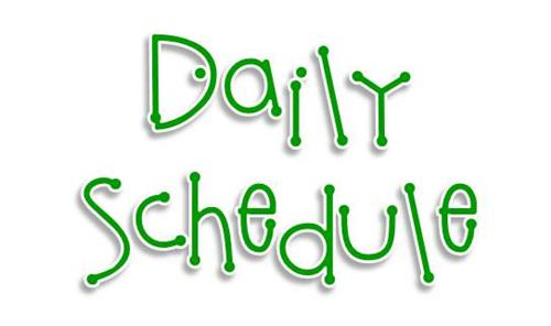 "Clipart saying ""Daily Schedule"""
